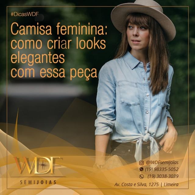 e442d0b22 WDF Semijoias - Camisa feminina